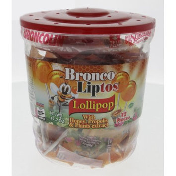 Broncolin Bronco Liptos Medicated Lollipops 17.7oz - Lollipops medicinales (Pack of 12)