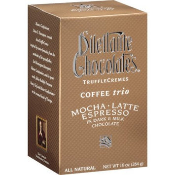Dilettante Coffee Trio Truffle Cremes - 10 oz Gift Box