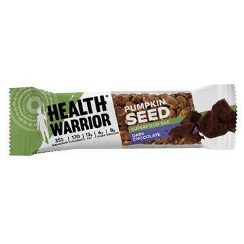 Health Warrior Pumpkin Seed Bars, Dark Chocolate, 1.5 Oz, 12 Ct