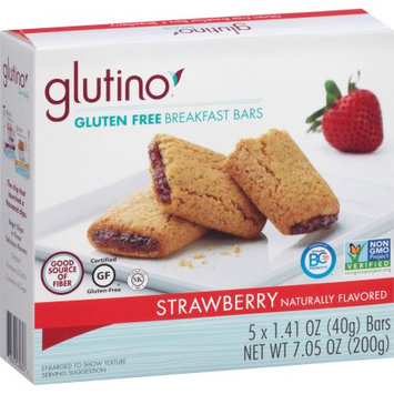 Boulder Brands Glutino Strawberry Gluten Free Breakfast Bars, 1.41 oz, 5 count