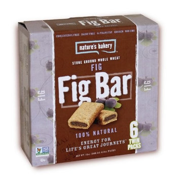 Nature's Bakery Whole Wheat Fig Bar, 6 Count (Pack of 12)