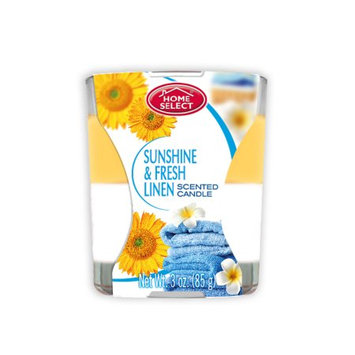 Delta Brands Home Select - Fresh Home Fragrance - Scented Candles - Sunshine and Fresh Linen - 3 oz.