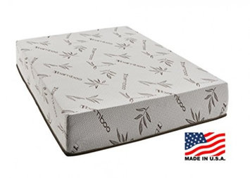 Fortnight Bedding 10 Inch Gel Memory Foam Mattress with Bamboo Cover, Cot size 33x74