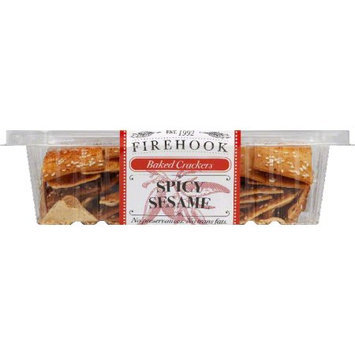 Firehook Crackers, Baked, Spicy Sesame - 7 Oz. Case of 12