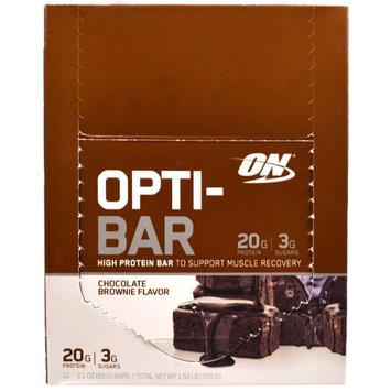 Optimum Nutrition, Opti-Bar High Protein Bar, Chocolate Brownie, 12 Bars, 2.1 oz (60 g) Each(pack of 3)