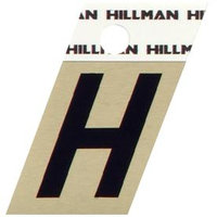 The Hillman Group 1.5-in Black and Gold House Letter H 840508