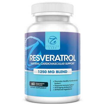Zenwise Health Zenwise Labs Resveratrol Cardiovascular Support Vegetarian Capsules, 60 Ct