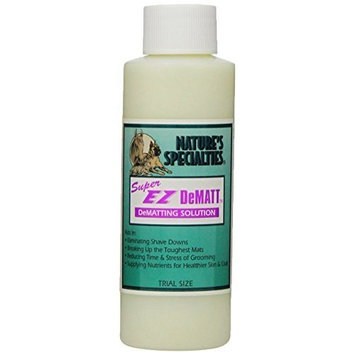Nature's Specialties Super EZ Dematt Pet Conditioner, 4-Ounce