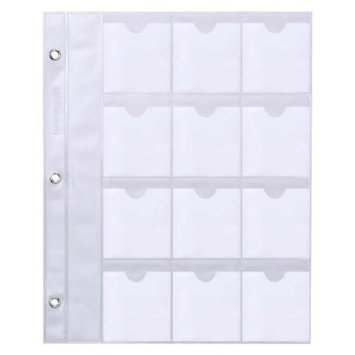 Build-Your-Own Nail Plate Organizer w/ Clear Binder Sheets + Accessory Pouch 10 Sheets - Square