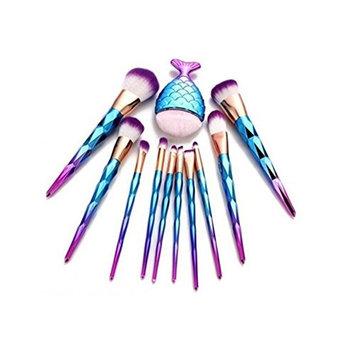 Kim88 11PCS Fony Makeup Brushes Set Eyebrow Eyeliner Foundation Blush Concealer Cosmetic Brushes