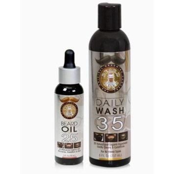Beard Guyz Beard Daily Wash 35 and Beard Oil 25 Set