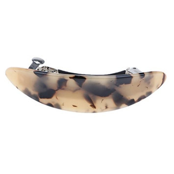 D DOLITY Women Barrette Vintage French Acetate Barrettes 3.5 Inches Large Hair Pins - Coffee