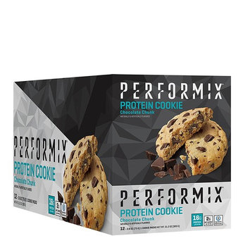 PERFORMIX Protein Cookies, ioProtein Blend 12 Count Box, Chocolate Chunk