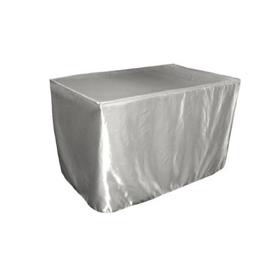 LA Linen TCbridal-fit-48x24x30-SilverB41 Fitted Bridal Satin Tablecloth Silver - 48 x 24 x 30 in.
