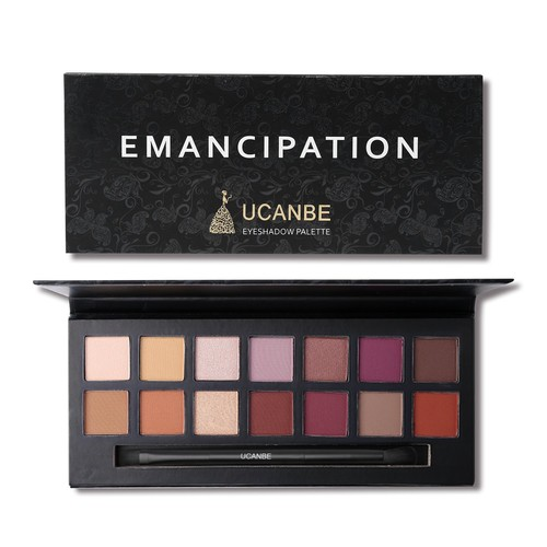 UCANBE Pro 14 Colors Eyeshadow Palette Matte & Shimmer Eye shadow Long Lasting Waterproof Makeup Collection