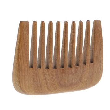 Homyl Green Sandalwood Beard Comb - Wide Tooth Pocket Comb - No Static Natural Aroma Wooden Grooming Comb for Men & Women