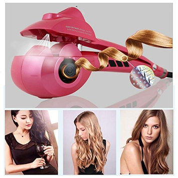 YaeKoo Automatic Hair Steam Curler Ceramic Hair Curler Professional Curling Iron Wand Ceramic Curling Flexible with LED Digital Display