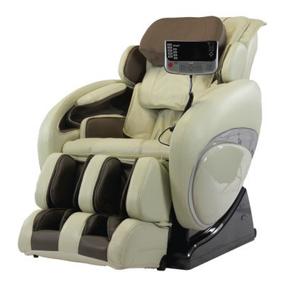 Osaki OS-4000T Deluxe Zero Gravity Heated Reclining Massage Chair With Foot Rollers Cream