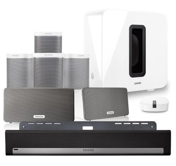 Sonos PLAYBAR Wall Mount SUB PLAY:1 4pk Play:3 pr Boost Kit White