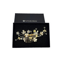 VANKOKO Bride Hair Side Comb Wedding Hair Accessory Bridal Headpieces (G