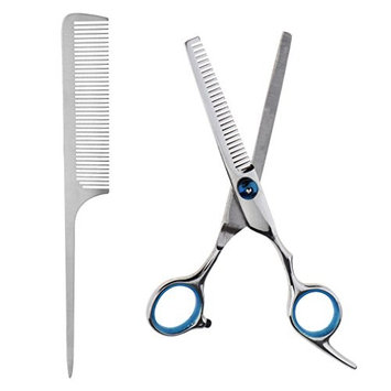Homyl Professional Salon Barber Tools Kit Hairdressing Hair Cutting Thinning Scissors Shears Hair Styling Design DIY Comb Set