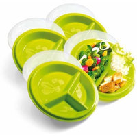 Precise Portions PP3SB-4 Go Healthy Travel Pack Plate Set of 4