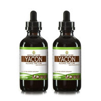 Secrets Of The Tribe Yacon Tincture Alcohol Extract, Organic Yacon (Smallanthus sonchifolius) Dried Root 2x4 oz