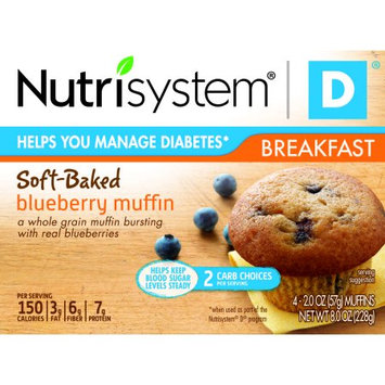 Nutrisystem D Blueberry Muffins, 2 oz, 4 count