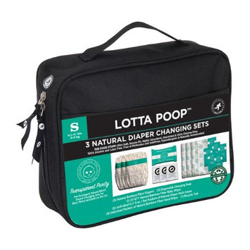 Products on the Go POTG1001 Lotta Poop 3 Complete Diaper Change Sets Fabric Case Small