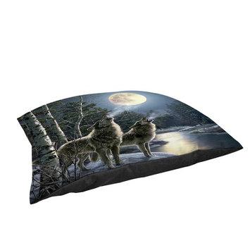 Thumbprintz Howling Large Rectangle Pet Bed