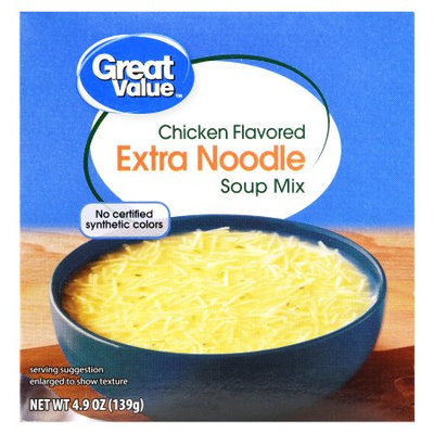 Great Value Chicken Flavored Extra Noodle Soup Mix