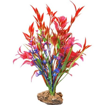 SPORN Aquatics 7-Inch Red/Pink/Blue Standing Plant
