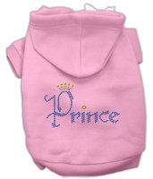 Mirage Pet Products 5466 LGPK Prince Rhinestone Hoodies Pink L 14