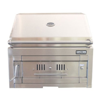 Sunstone SUNCHDZ28 28 in. Dual Zone 304 Stainless Steel Charcoal Grill
