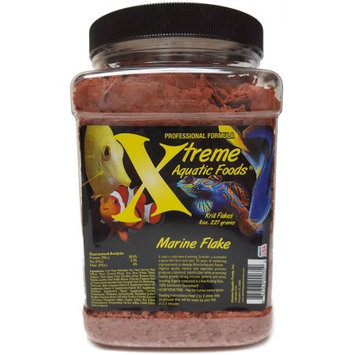 Xtreme Aquatic Foods Marine Krill/Shrimp Crave Krill Flake, High Protein, Cold Water Artic, 8 oz
