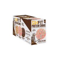 SinFit Labs Protein Cookies Drizzle Covered 3 FLAVORS Birthday Cake, Chocolate Chip , Peanut Butter (Variety)