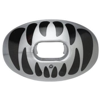 Battle Sports Oxygen Mouthguard Silver with Black Fangs