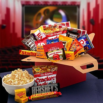 Movie Night! Redbox Movie Gift Basket with Candy and Popcorn