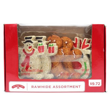 Petpal Pet Nutrition Technology Co., Ltd. Holiday Time 6pk Rawhide Munchy Assortment