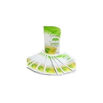 Korean Cosmetics_Nesura Blackhead Control Green Tea Strips for Nose Care_8 sheets by NESURA