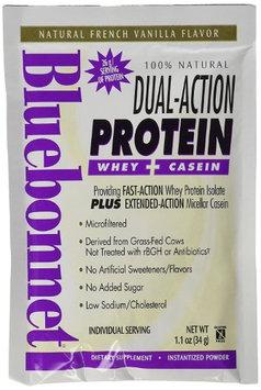 Bluebonnet Nutrition BlueBonnet 100% Natural Dual Action Protein Powder, Vanilla, 8 Count