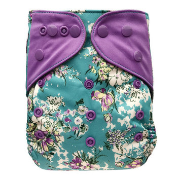 EcoAble Baby Pocket Cloth Diaper, One Size 10-35Lb, Bloom
