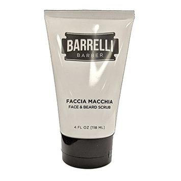 Barrelli Barber Faccia Macchia Face and Beard Scrub | Face Wash and Exfoliator | Beard Scrub and Cleanser | Paraben, Gluten and Cruelty free | Made in the USA