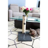 One Source International, Llc 20 inch Sisal Scratching Post (Grey Fleece 12x16 Base)