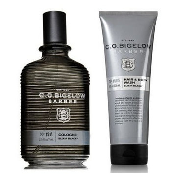 C.O. Bigelow Elixir Black Men's Cologne 2.5 Oz & Hair and Body Wash 8 Oz.