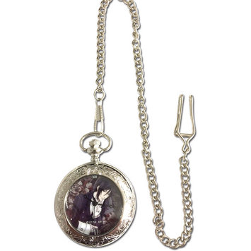 Pocket Watch - Black Butler - New Sebastian Anime Licensed ge63514