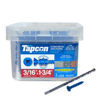 Tapcon 225-Count 3/16-in x 1.75-in Blue Steel Self-Tapping Concrete Screw 24555