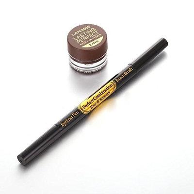 MYEDO Natural Waterproof Eyeliner Pen Eyebrow Cream Set Makeup Eye Liner Long Lasting