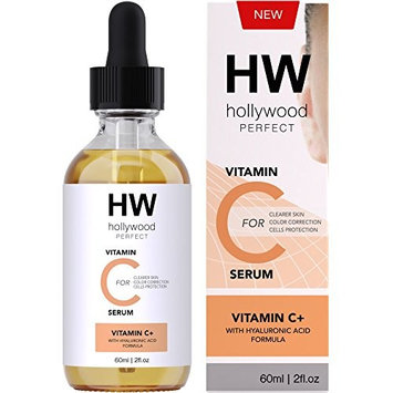 Hollywood Perfect Vitamin C Serum With Hyaluronic Acid - Clear Facial Moisturizer With Anti-Aging Formula, Strong And Youthful Glowing Skin, Reduced Fine Lines And Wrinkles, And Even Skin Tone!