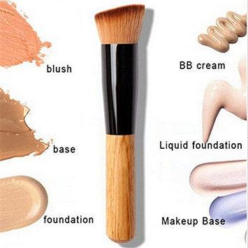 CoKate Flat Angled Wooden Buffer Liquid Foundation/Powder/Contour/Bronzer Make...